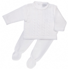 Baby Boys Cable Knitted Top & Pants